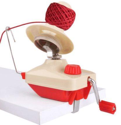 Nystmaskin röd - för garn, band och tråd