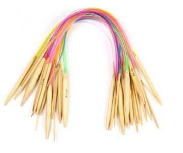 Set med 18 st. rundstickor 80 cm i finaste bambu