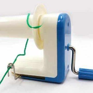 Nystmaskin blå - för garn, band och tråd