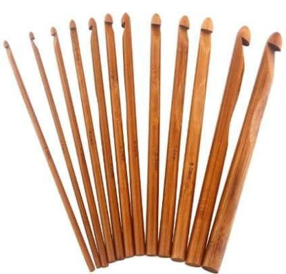 N016 - Set med 12 st. virknålar i finaste bambu