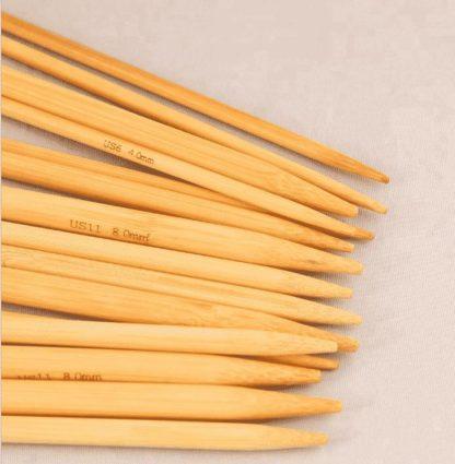 Set med 11 storlekar Strumpstickor i finaste Bambu