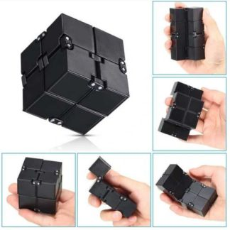 Infinity Cube Mini Toy Finger Anxiety Stress Relief Cube - Svart