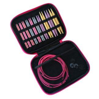 N101 - Set med 10 st. färgglada utbytbara rundstickor i plast