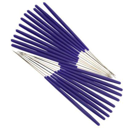 N146 - Set med 20 st. virknålar - till virkning av peruker mm.